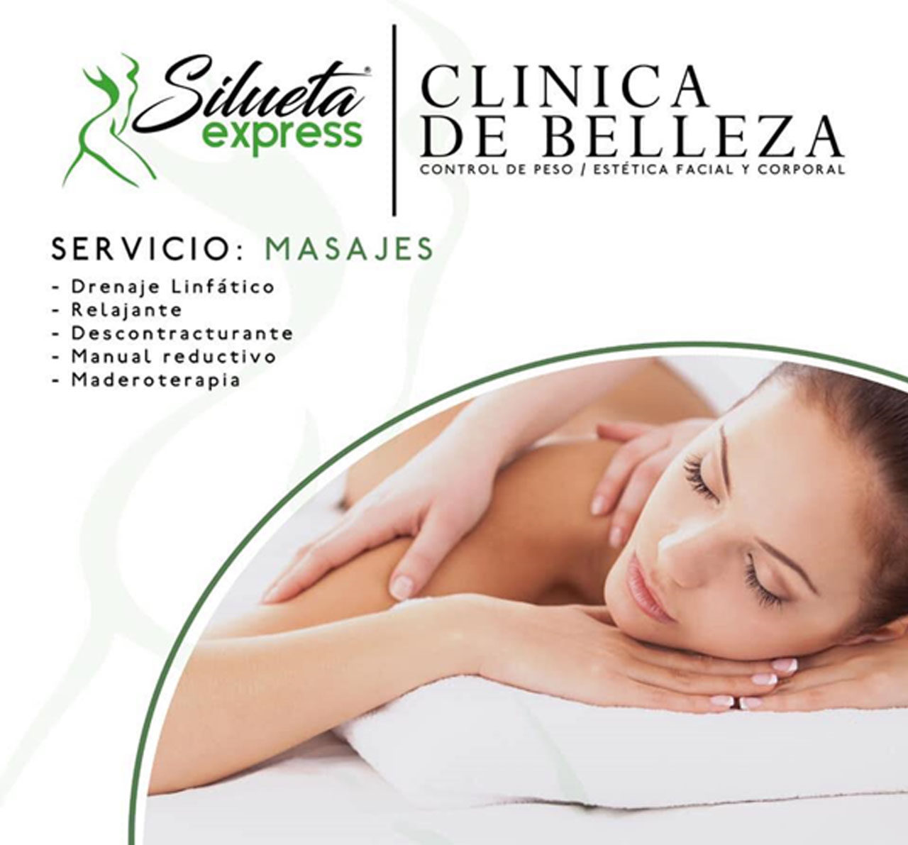 clinica de belleza silueta masajes